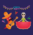 cinco de mayo celebration with katrina character vector image vector image