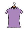 colored blurred silhouette of woman t-shirt in vector image vector image