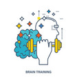 concept of creative design and brain training vector image