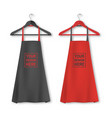 cotton kitchen apron icon set with clothes vector image vector image