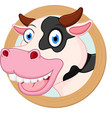 cow cartoon or mascot vector image vector image