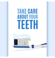 Dental background with realistic toothbrush vector image