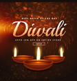 diwali celebration offers and discounts vector image vector image