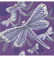 dragonfly pattern vector image vector image