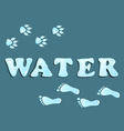 Drops of water footprint vector image vector image