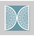 Envelope template with mandala lace ornament