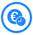 euro credit rounded grainy icon vector image vector image