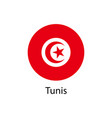 flag of tunis vector image vector image