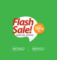 flash sale up to 70 special offer template design vector image vector image