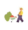 flat farmer man in professional uniform vector image vector image