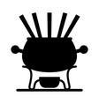fondue vector image vector image