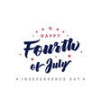 fourth july usa lettering poster vector image