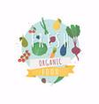 fresh organic food healthy diet flat style vector image