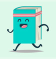 funny books cartoon character vector image vector image