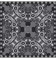 grey ornamental floral paisley bandanna vector image