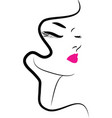 hair beauty makeup icon vector image vector image