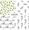 hand drawn nature pattern vector image