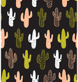 Hipster cactus seamless pattern Cacti tribal boho vector image vector image