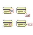 how to enter cvv code sample - credit card cvv vector image vector image