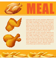 Infographic design of meal vector image