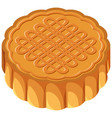 isolated mooncake on white background vector image vector image