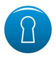 keyhole icon blue vector image