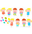 kids boy and girl isolated clip art collection vector image vector image