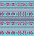 knitted sweater winter pattern vector image vector image