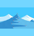 landscape with mountains for skiing and slalom vector image vector image