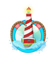 lighthouse symbol logo design vector image vector image