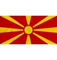 Macedonia paper flag vector image vector image