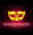 masquerade mask background vector image vector image