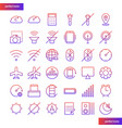 mobile function gradient icons set vector image vector image