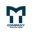 modern letter tm or mt logo vector image