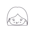 monochrome silhouette of facial expression funny vector image vector image