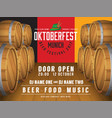 oktoberfest beer festival background vector image