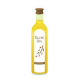 olive oil bottle in cartoon vector image vector image
