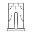 pants thin line icon clothing and casual vector image vector image