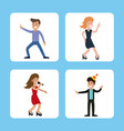 people funny party karaoke dance vector image vector image