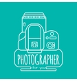 photographer for you vector image vector image