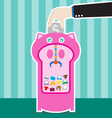 piggy bank machine vector image vector image