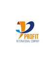 profit international company icon vector image
