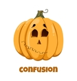 Pumpkin for Halloween Emotions Confusion vector image vector image