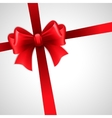 Red holiday ribbon with bow vector image vector image