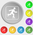 roller skating icon sign Symbol on eight flat vector image