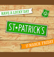 saint patricks day design elements vector image vector image