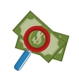 searching money save icon vector image