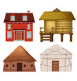set of traditional house vector image vector image