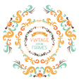 Set of vintage round frames vector image