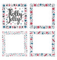 set of xmas greeting frames vector image vector image